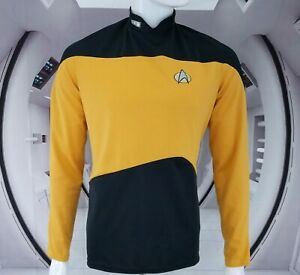 Star Trek Captain Kirk Shirt The Next Generation by RUBIE'S MADE in USA Sz Large