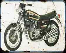 Benelli 750 Sei A4 Metal Sign Motorbike Vintage Aged