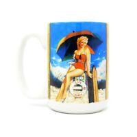 Life Guard Girl Pin Up Cuppa Mug 15 Oz. Coffee Tea Cup Mug