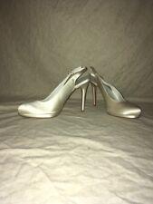 Stuart Weitzman Longside Ivory Satin, Women's Shoes, Size 8.5M