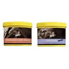 B & E Leder Pflege 2 x 500 ml - Bienenwachs Lederpflege Balsam + Sattelseife