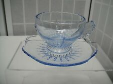 Radiance, Ice Blue, New Martinsville, Cup & Saucer