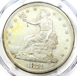 1874-S Trade Silver Dollar T$1 - Certified PCGS Uncirculated Details (UNC MS)!