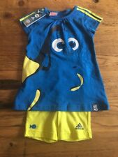 Adidas Disney Finding Nemo Dory Tunic Tshirt And Shorts 18-24 Months Size 92