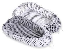 Newborn Double sided Baby Cocoon Sleep Nest Cushion Breathable Snuggle Pod Black