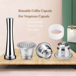 For Nespresso Stainless Steel Coffee Capsule Refillable Reusable Espresso Pods