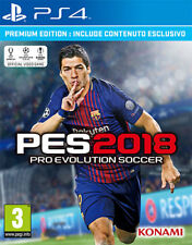 Pro Evolution Soccer PES 2018 Premium Edition (Calcio) PS4 Playstation 4 IMPORT