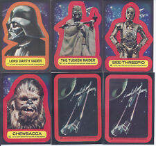 1977 TOPPS NON SPORT STAR WARS TRADING CARD STICKER LOT VADER CHEWIE C3PO & MORE