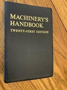 Vintage Machinery's Handbook Revised 21st Edition Industrial Press USA