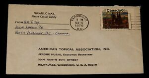 Vintage Cover, CANADA, 1970, POSTAL HISTORY,North Vancouver, BC,Group Of 7 Stamp