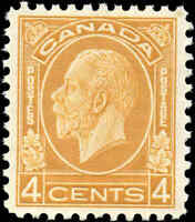 Mint NH Canada 1932 VF Scott #198 4c King George V Medallion Stamp