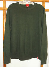 Levi's Sweater Men's Large Green Ribbed Crew Neck