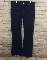 American Eagle Stretch Hipster Jeans Size 4 Dark Wash