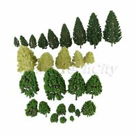 27 Mixed Model Trees Train Railway Architecture War Game Park Scenery HO O Scale