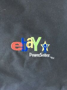 Power Seller Logo Tote Bag Embroidered Black Red Green BlueYellow Ebay Live 2008