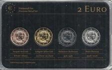 Lettland 2 Euro Prestige Metal Coinset, Gold, Platin, Ruthenium, Neu,OVP,SELTEN