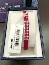 Armband Bangle By Oliver Weber with Swarovski Charm Free Rhodium  Fuchsia