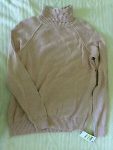 Karen Scott Blush Marl Turtleneck Sweater Size PETITE M NEW