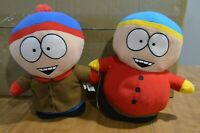 """Official South Park Plush Dolls, Stan Marsh and Eric Cartman,10"""" Tall."""