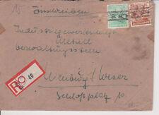 BIZONE/bande/netzaufdruck, Mi. 44i, 51i, lettre avec not-R-ticket de Mülheim/Ruhr/AKS