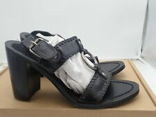 Chinese Laundry 'GOLDEN' Leather Black Sandals Heels Size 8, 8.5 & 9 M