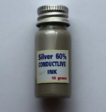 Silver Conductive Glue Paste  Paint PCB Membrane Screenable 60% Silver 10 grams