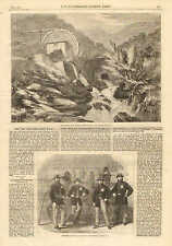 Mining, Vigra Gold Mines, North Wales, County Merioneth, England, 1862 Print