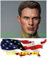 1/6 Chris Evan Captain America 5.0 Head Sculpt custom For Hot toys Body ❶USA❶