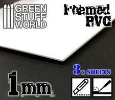PVC Espanso 1 mm - Foglio A4 - Forex - costruzione di diorami tegole miniature