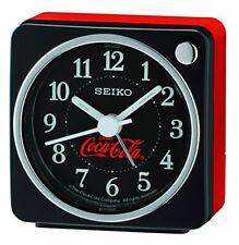 Seiko Quartz Coca Cola Black Square Bedside Alarm Clock