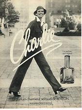 PUBLICITE ADVERTISING 064 1976 REVLON  parfum sensuel CHARLIE             190614