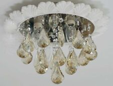 D38 European 4 Lights White Crystal Lampshade Bedroom Decoration Ceiling Light!