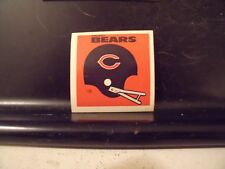 1977 NFL Football Helmet Sticker Decal Chicago Bears Sunbeam Bread