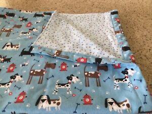 Handmade flannel pet blanket, dogs!!