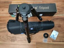 USED  Leofoto LM-364C Tripod with Video Bowl and Bag