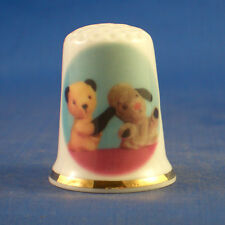 Birchcroft China Thimble -- Sooty and Sweep -  Free  Gift Box