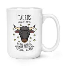 Taurus Horoscope 15oz Mighty Mug Cup - Horoscope Star Sign Zodiac Birthday