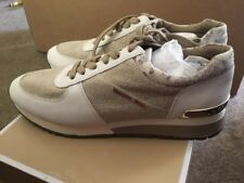 BNIB Genuine Michael Kors Natural Beige Allie Trainers Size UK 7