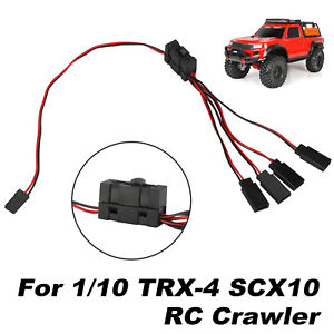 4-way LED Light On/off Controller Switch Y Cable for 1/10 TRX-4 SCX10 RC Crawler