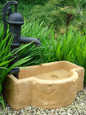 Water Feature Garden (Cotswold Tough) C/W ornamental Hand Pump.Outdoor Fountain