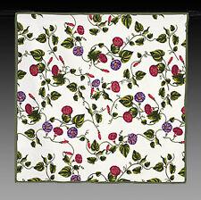 exclusive  mediterrane Tischdecke Weiss mit Blumenranke 90x90 Neu Baumwolle D7