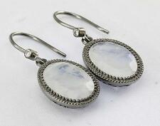RAINBOW MOONSTONE EARRINGS 925 STERLING SILVER ARTISAN JEWELRY COLLECTION R712A