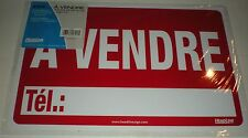 "SIGN A VENDRE 8"" X 12"" RED PHONE NUMBER VINYL LETTERS HEADLINE 083392094024 9402"