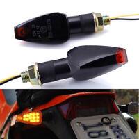 2x Motorcycle LED Blinker Turn Signal Indicators AMBER Light for Honda Suzuki