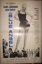 """1959 RARE MAY BRITT """"BLUE ANGEL"""" CURT JURGENS 'Starts Today' PR AD"""