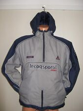 HARDLY WORN BOYS GREY 1/2 ZIP FRONT LE COQ SPORTIF HOODED JACKET AGE 12-13-14