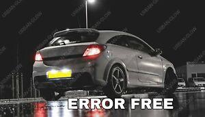 For Astra H 2005-10 VXR Xenon White LED Number Plate Lights Bulbs Error Free
