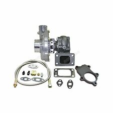 T3 T04E .63 A/R TURBO CHARGER BOOST 350+HP + Oil Feed Line Flange