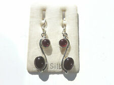 Granat Ohrhänger - Garnet Earrings 925 Silber Nr. E2370