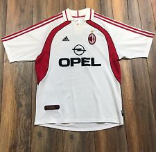 RARE VTG ADIDAS AC Milan Jersey Shirt Maglia Home OPEL Men's LARGE Made in Italy
